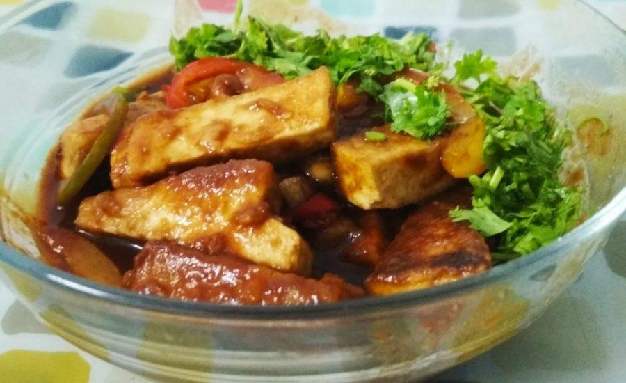 Spicy Soya Paneer   Spicy Tofu Recipe