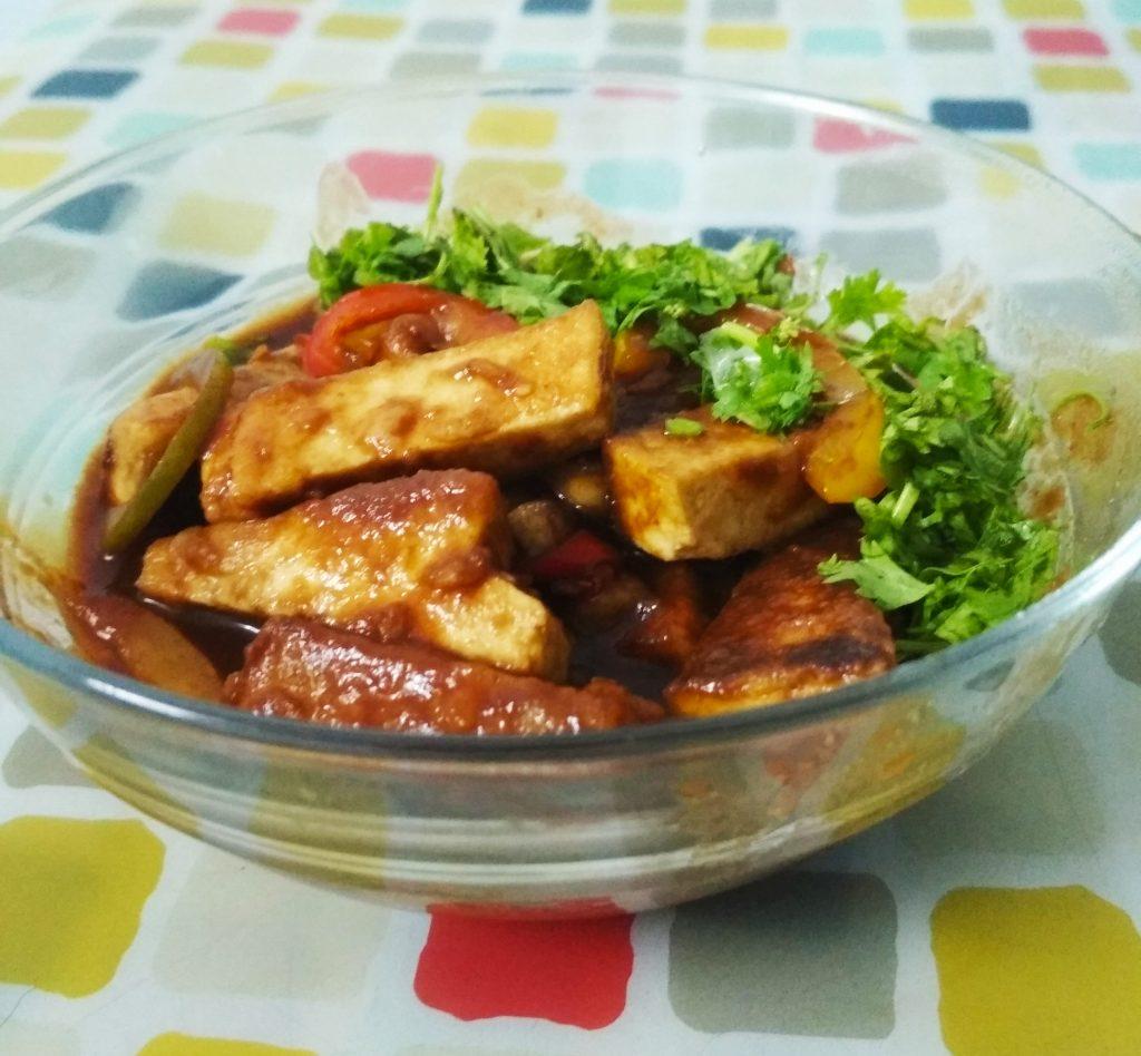 Spicy Soya Paneer | Spicy Tofu Recipe