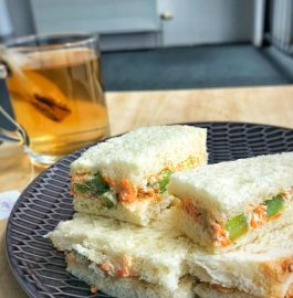 Veg Cream Cheese Sandwich Recipe