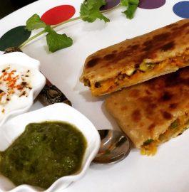 Veg Mughlai Paratha Recipe
