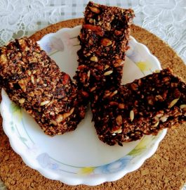 Chocolate Oats Granola Bar Recipe