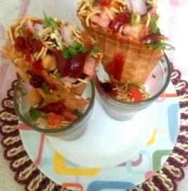 Icecream Cone Chaat Recipe