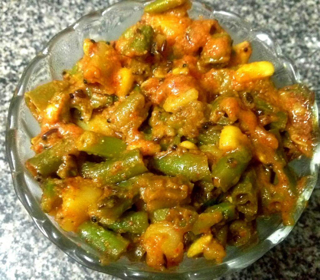 French Beans Aalu Ki Sabzi Recipe