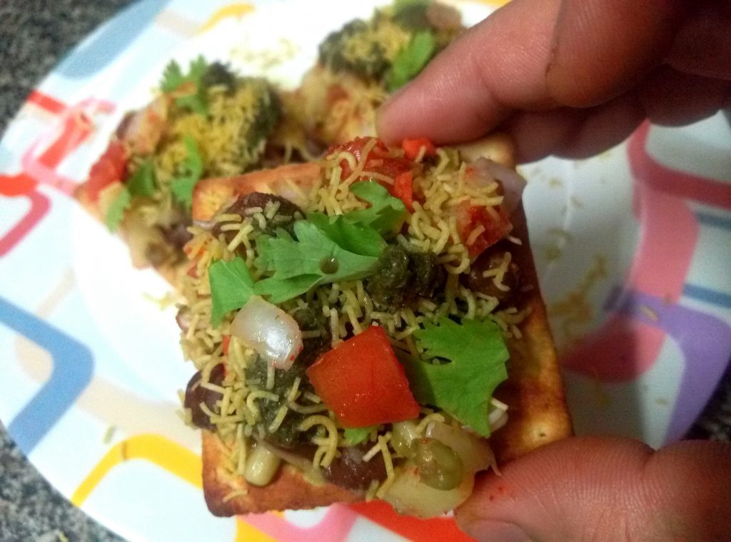 Crackers Biscuit Chaat Recipe