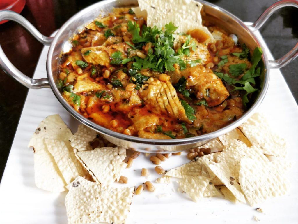 Danamethi Papad Ki Sabzi Recipe