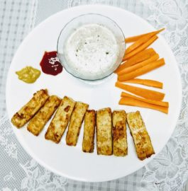 Tofu Wings With Creamy Dip Recipe