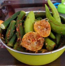 Bhindi Mirchi Ka Achar Recipe