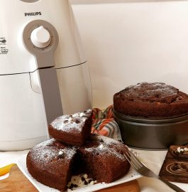Eggless Whole Wheat Chocolate Cake - Air Fryer Recipe