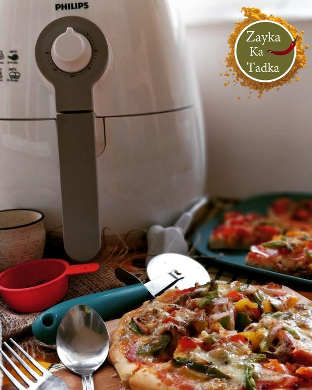 Veg Pizza - Easy Recipe In Air Fryer