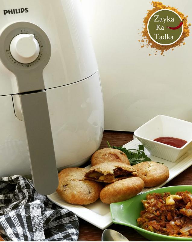 Pyaaz Ki Kachori - Air Fryer Recipe