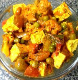 Tofu Matar Gobhi Sabzi Recipe
